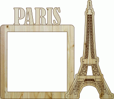 Frame Paris Laser Cut DXF File