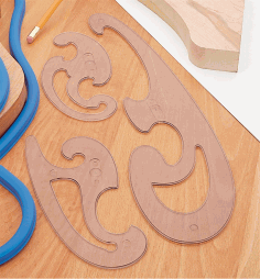 French Curve Laser Cut Template.cdr CDR Vectors File