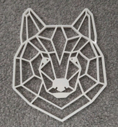 Geometric Bear Head Wall Art Laser Cut Template CDR File