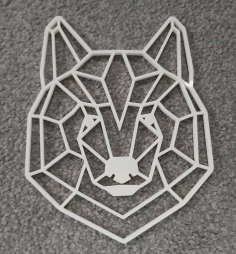 Geometric Bear Head Wall Art Laser Cut CDR File