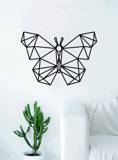 Geometric Butterfly Wall Art Laser Cut DXF File