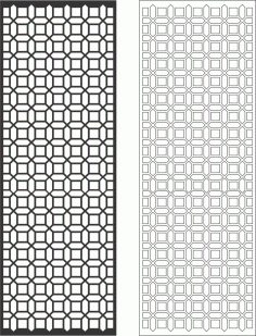 Geometric Decorative Grille Free Vector CDR File