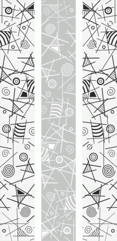 Geometric Line Art Sandblast Pattern Free CDR Vectors File