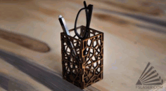 Geometric Pen Stand CNC Laser Cutting Free CDR File