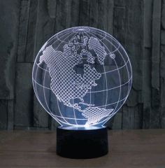 Globe Illusion Lamp CNC Laser Engraving Free CDR Vectors File