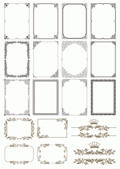 Gold Border Frames Free CDR Vectors File