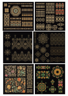 Golden Mandala Luxury Design Elements Free Vector CDR File