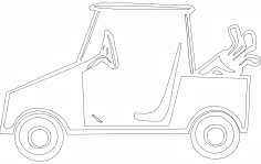 Golf Cart Free DXF Vectors File