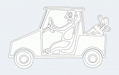 Golf Cart Template Free DXF Vectors File
