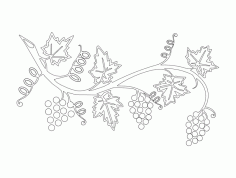 Grape Vine Free DXF Vectors File