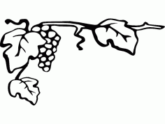 Grapes 7×4 Free DXF Vectors File