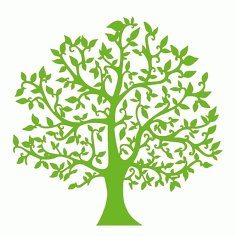 Green Tree CNC Laser Cut Free CDR File