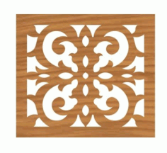 Grille Pattern CNC File for Laser Cut Design DXF File