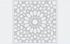 Grille Pattern Design and Jali Pattern Design DXF File
