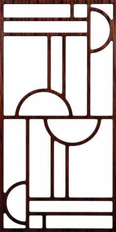 Grille Pattern Design for Room Divider DXF File