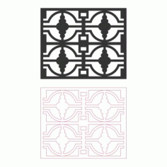 Grille Pattern Designs DXF File