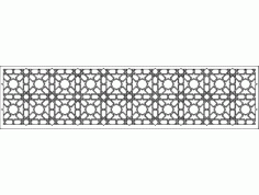 Grille Patterns spr 10×2 DXF File