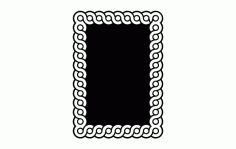 Guilloche Interlaced Band Patterns DXF File
