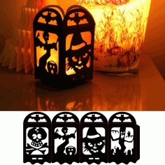 Halloween Lamp Laser Cut DXF File