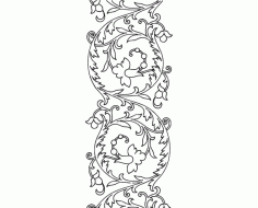 Hand Embroidery Pattern Scroll Design DXF File