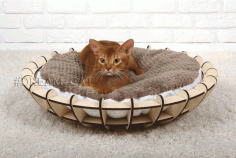 Hanging RoundCat Bed Laser Cut CDR File