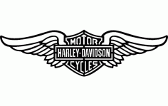 Harley Wings dxf File DXF File