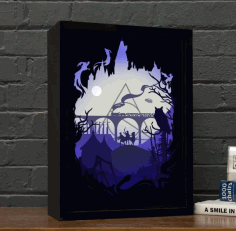 Harry Potter Light Box CNC Laser Cutting Free CDR Vectors File