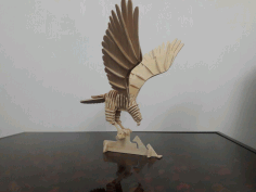 Hawk 3D Puzzle Plans Laser Cut DXF File