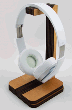 Headphone Stand Laser Cut DXF File