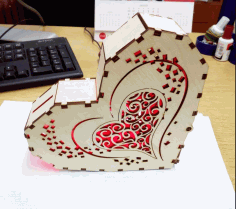 Heart Light Box CNC Laser Cutting Free CDR Vectors File