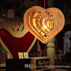 Heart Shape Lamp Laser Cut CDR File