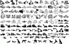 Heavy Equipment Vector Art Silhouettes Free CDR Vectors File