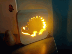 Hedgehog Night Light CNC Router Plans Laser Cut Design CDR File
