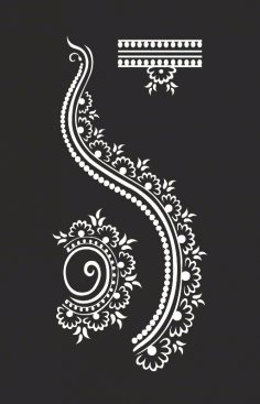 Henna Design Free CDR Vectors File
