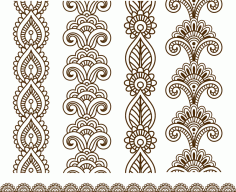 Henna Mehndi Vector Art Free CDR Vectors File