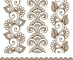 Henna Tattoo Mehndi Flower Template Vector Free CDR Vectors File