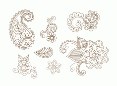 Henna Vector Set Vector Art Free CDR Vectors File