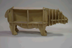 Hippo Table and Bookshelf DXF File