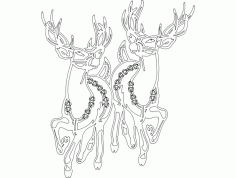 Holiday Attraction Animal  Festive Stuff DXF File