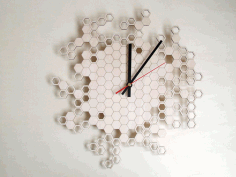Honeycomb Wall Clock Home Decor Laser Cut DXF File