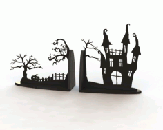Horror Book End Free Vector Laser Cut Design CDR File