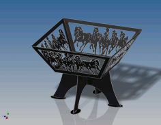 Horse Bonfire CNC Laser Cutting Free DXF File