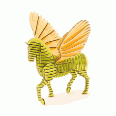Horse Laser Cut 3d Model Free CDR Vectors File
