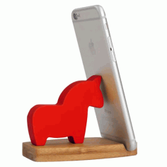 Horse Phone Stand Laser Cut CDR File