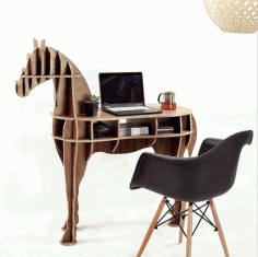 Horse Table CNC Laser Cutting Vector CDR File