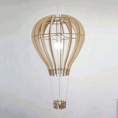 Hot Air Balloon Shape Lamp Laser Cut CDR File