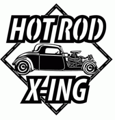 Hot Rod Xing Car Sticker DXF File