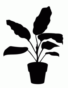 House Plant 2 Free DXF Vectors File