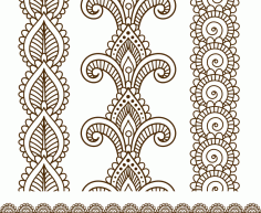 Indian Mehndi Henna Line Lace Elements Patterns Free CDR Vectors File