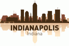 Indianapolis Skyline Free CDR Vectors File